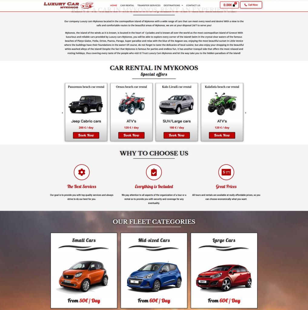 luxury cars website